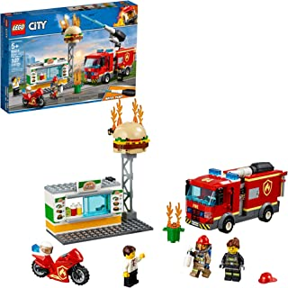 LEGO City Burger Bar Fire Rescue 60214 Building Kit (327 Pieces)