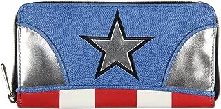 Marvel Captain America Logo Women's Zip Around Wallet