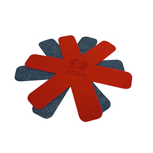 Beka 12003964 Feutrine Rouge/Gris, 49 x 39 x 1 cm