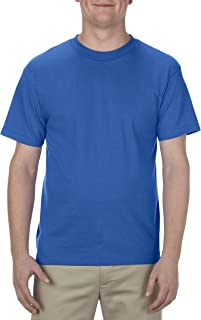 AAA Mens Classic Cotton Short Sleeve T-shirt, Royal Blue, Large