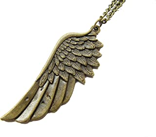 Large Wing Necklace. Bronze Wing Pendant.Angel Wing. Angel Wing Necklace,Angel Jewelry
