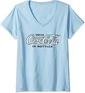 Womens Coca Cola, Coca Cola Vintage Coke V-Neck T-Shirt