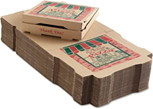 50 Corrugated Pizza Boxes 12w x 12d x 1 3/4h Kraft