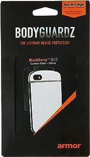 BodyGuardz BZ-ACWQT-0113 Carbon Fiber Armor Full Body Protector for BlackBerry Q10-1 Pack - Retail Packaging - White