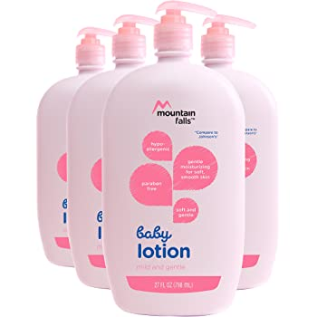 Mountain Falls Hypoallergenic Baby Lotion, Mild and Gentle, 27 Fluid Ounce (Pack of 4)