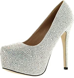 EYE CANDIE Womens Celine-85W Fashion Shiny Platform Pump