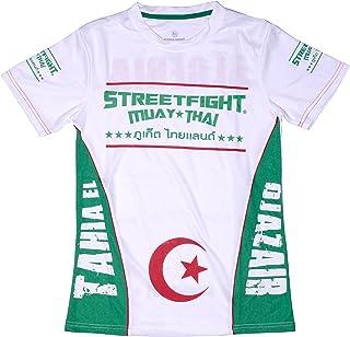 dea480e8d0dd58 MAILLOT STREETFIGHT MANCHE COURTE ALGERIE BLANC VERT TAILLE M