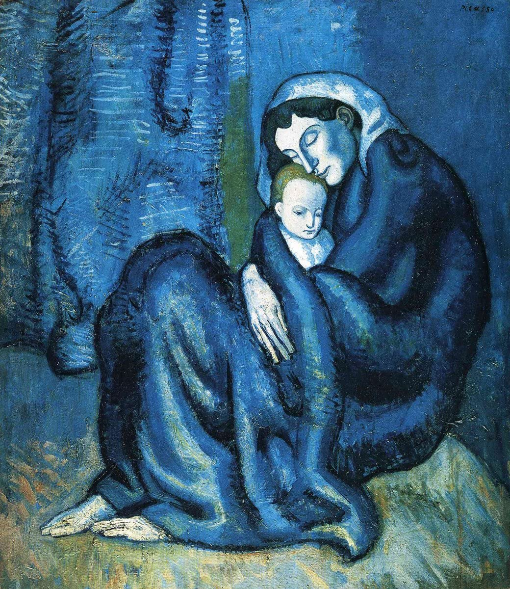 Amazon Com Pablo Picasso Mother And Child Size 20x24 Inch Canvas Art Print Wall Décor Posters Prints
