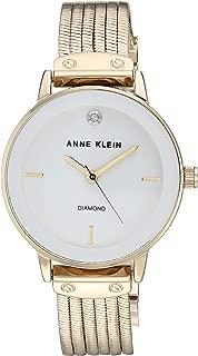 Women's AK/3220 Diamond-Accented Chain Bracelet Watch