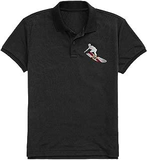 VNTSDSCAW Women Polo t-Shirt Cotton Essential Graphic Florida Flag Surfer Outline