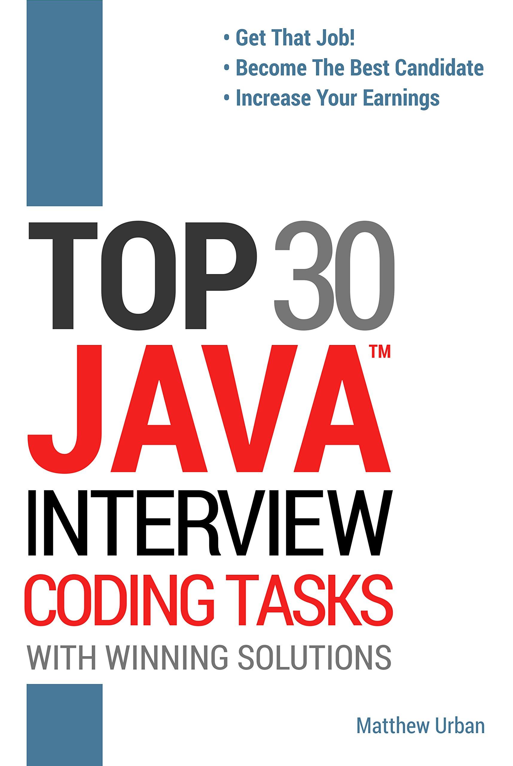 TOP 30 Java Interview Coding Tasks