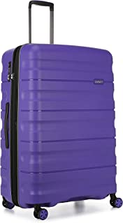Antler Juno 2 4W Large Roller Suitcase Hardside, Purple, 81cm