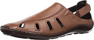 Healers (from Liberty) Men's FDY-0161 Tan Leather Sandals-9.5 UK/India (44 EU) (5131609166440)