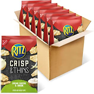 RITZ Crisp and Thins Cream Cheese and Onion Chips, 6 - 7.1 oz Bags
