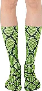 Snakeskin Print Crew Socks