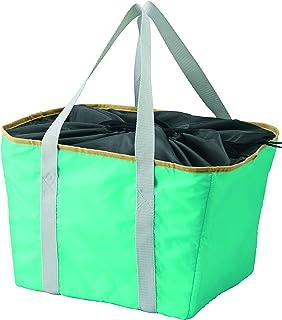 イデアルサービス レジカゴからそのままバッグに! 「保冷カゴからバッグ」ターコイズ 幅32×マチ27×高28cm 20273