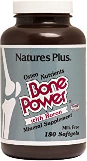 NaturesPlus Bone Power with Boron - 1000 mg Calcium, 180 Softgels - Bone & Joint Support Supplement, Liquid Calcium for Ma...