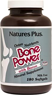 NaturesPlus Bone Power with Boron - 1000 mg Calcium, 180 Softgels - Bone & Joint Support Supplement, Liquid Calcium for Maximum Absorption - Milk Free, Gluten-Free - 45 Servings