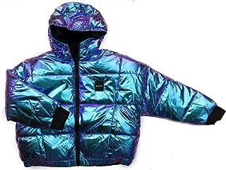 DKNY Chaqueta reversible de invierno para niños con detalles de logotipo