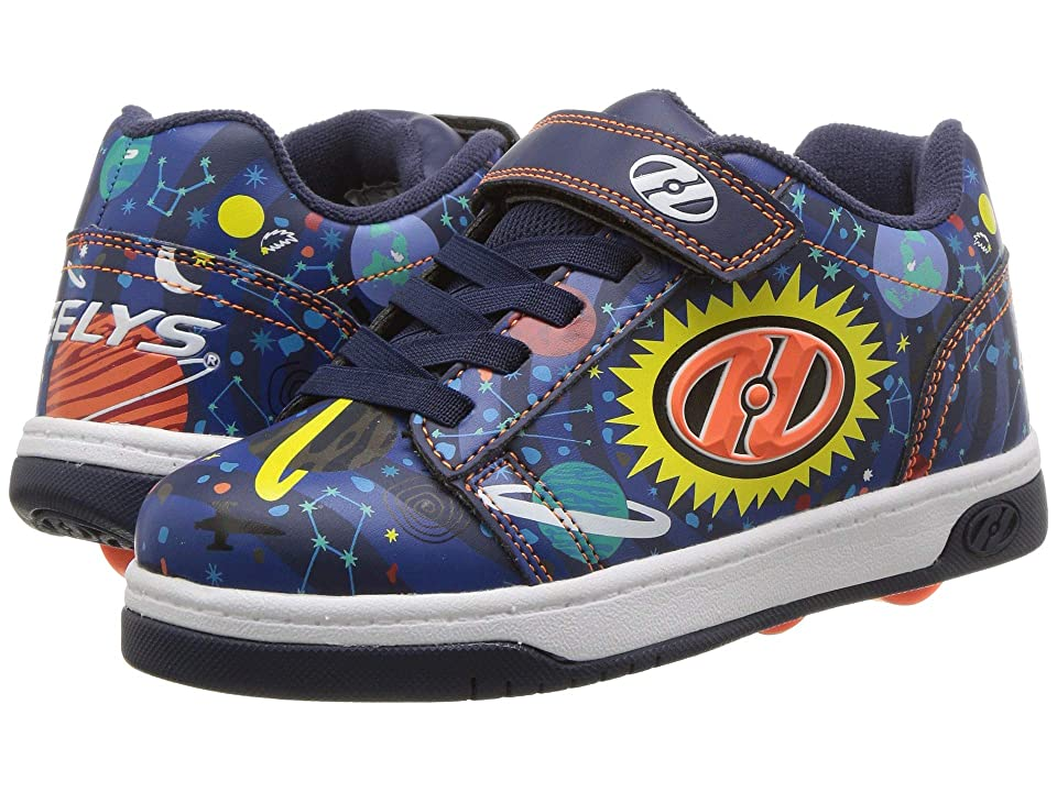 Heelys Dual Up x2 (Little Kid/Big Kid) (Navy/Black/Multi Orbit) Boys Shoes