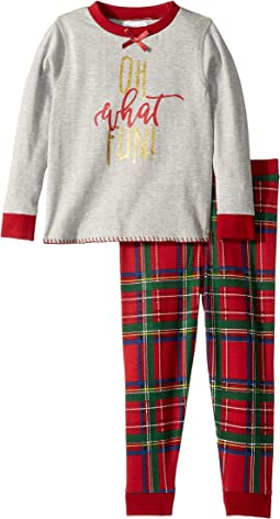 Oh What Fun Tartan Long Sleeve Two-Piece Pajamas (Infant/Toddler)