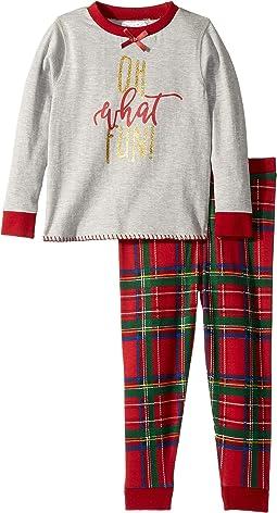 Oh What Fun Tartan Long Sleeve Two-Piece Pajamas (Infant/Toddler)