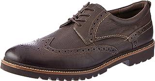 ROCKPORT Men's Formal Marshall Wingtip Dark Bitter Choc Uniform Dress Shoes, Dark Bitter Chocolate