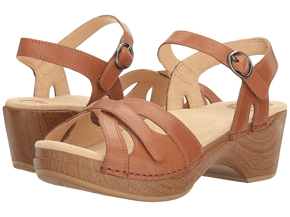 Vintage Sandals | Wedges, Espadrilles – 30s, 40s, 50s, 60s, 70s Dansko Season Camel Full Grain Womens  Shoes $119.95 AT vintagedancer.com