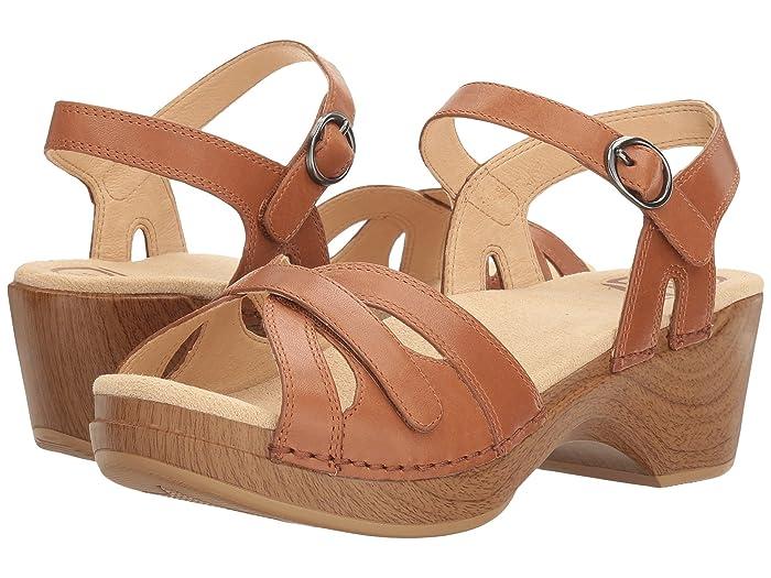 70s Shoes, Platforms, Boots, Heels Dansko Season Camel Full Grain Womens  Shoes $119.95 AT vintagedancer.com
