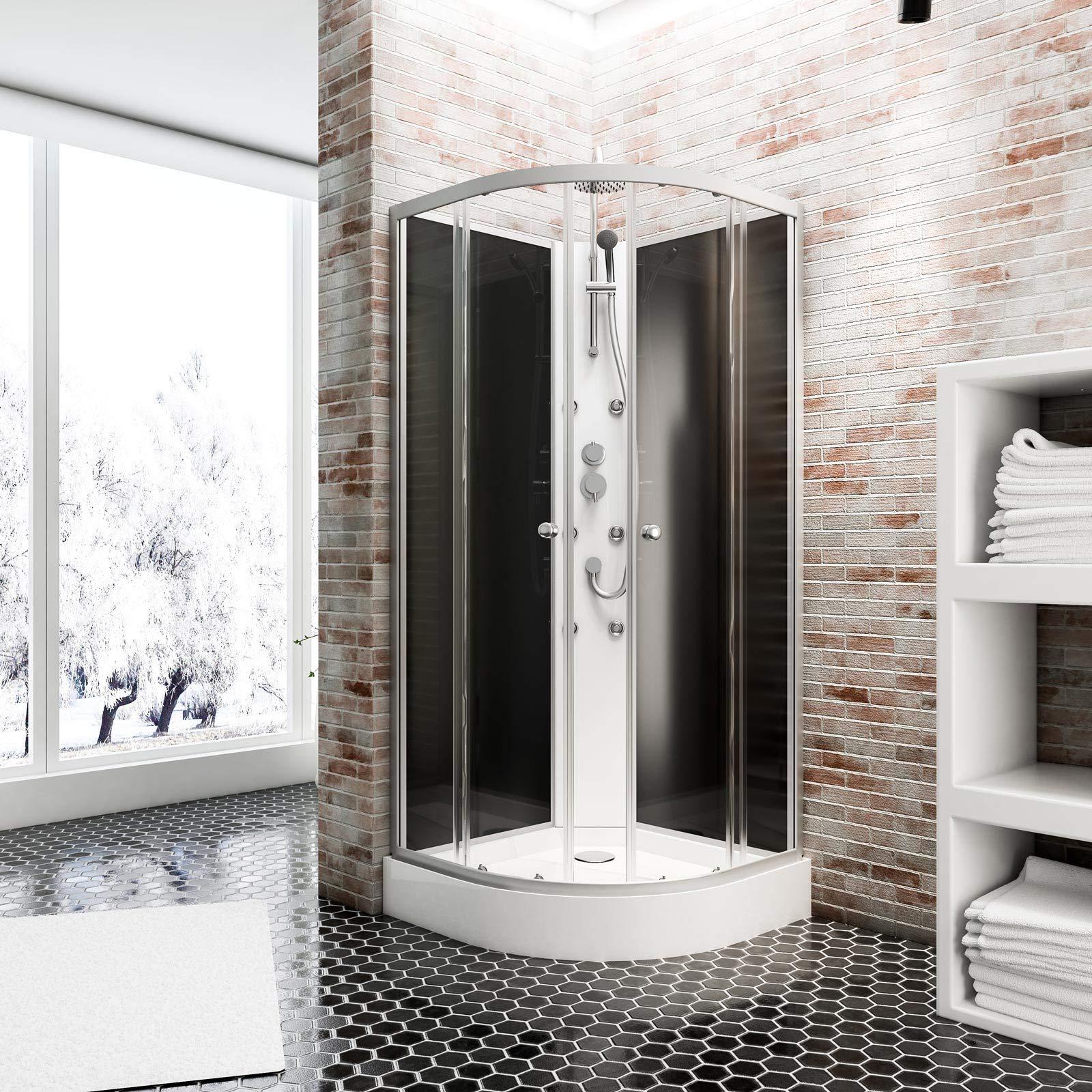Cabina de ducha completa Rhodos, cabina de ducha integral plana ...