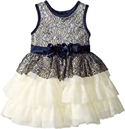 Nanette Lepore Kids - Satin with Tulle and Lace Overlay Dress (Infant)