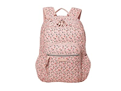 Vera Bradley Iconic Campus Backpack (Sweethearts and Flowers) Backpack Bags