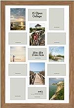 MCS Museum Poster Frame Collage, 20 x 30 Inch, Medium Oak Woodgrain