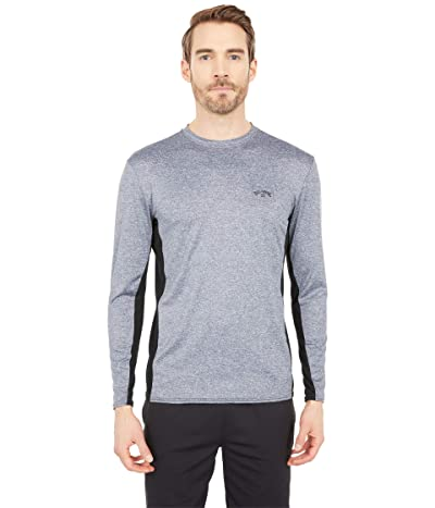 Billabong Arch Mesh Loose Fit Long Sleeve Surf Tee (Grey Heather) Men