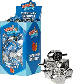 100 Medium Dreidels - Silver - Classic Chanukah Spinning Draidel Game and Prize - Bulk Value Pack - by Izzy 'n' Dizzy