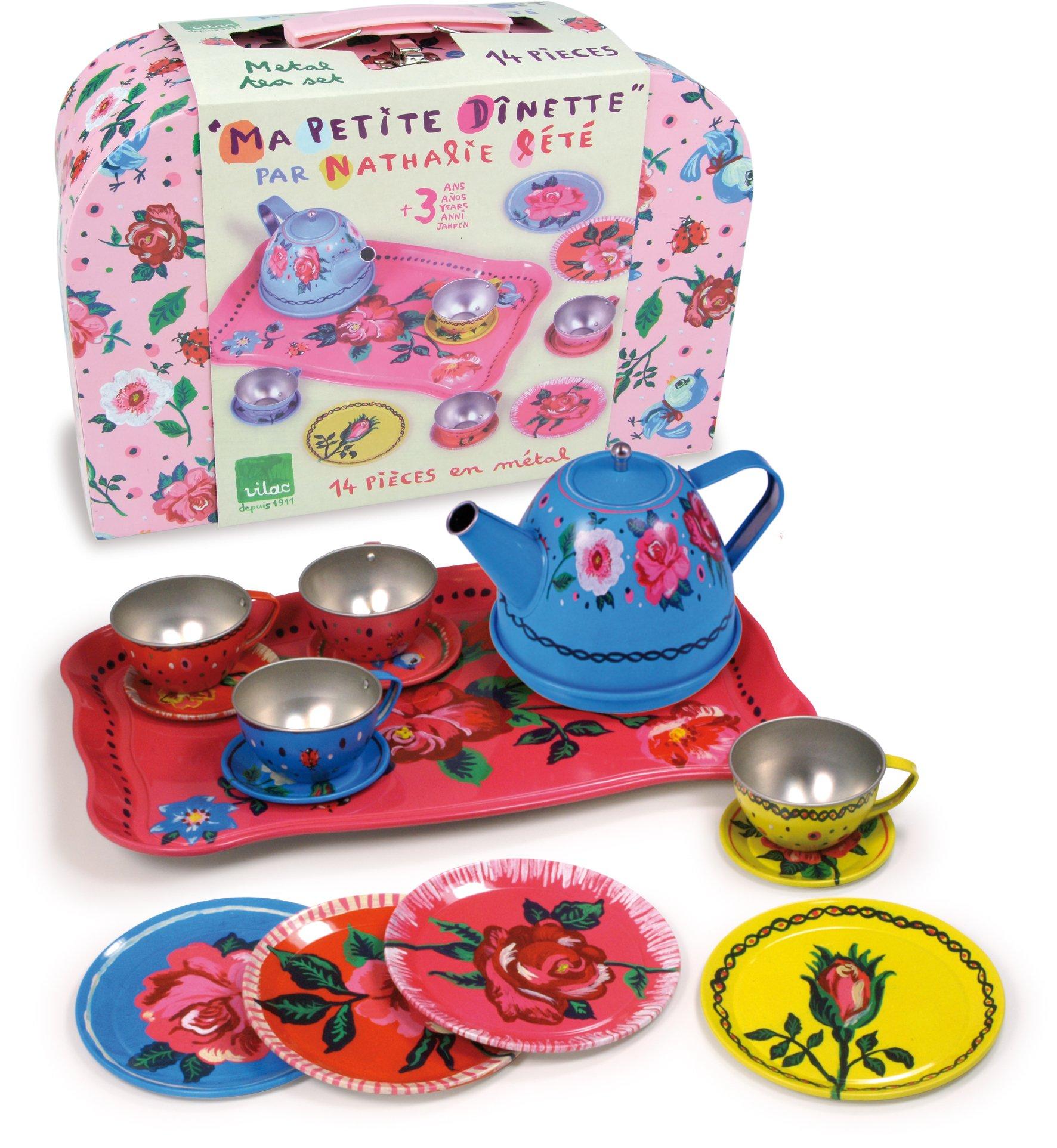 Vilac Retro Metal Tea Party Toy Set 8606