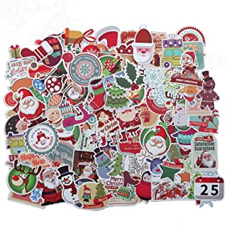 Christmas Stickers , 100 Pcs Santa Snowflake Stickers for Kids , Merry Christmas Decorations Stickers for Envelopes Gifts Tags Crafts Windows Snowboard
