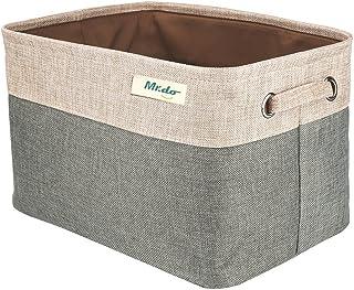 Mr.do® Boîte de Rangement Panier de Rangement Stockage Panier Armoire Cube Gris Vert et Beige Panier pour Sous-vêtements J...