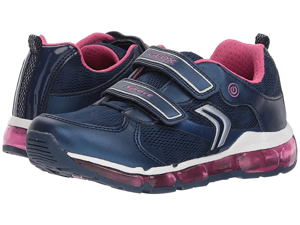 Geox Kids Android 16 (Little Kid/Big Kid) (Navy/Fuchsia) Girl