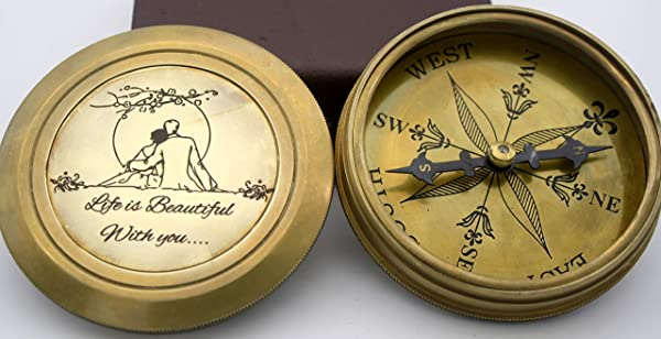 Life Is Beautiful With You Engraved Compass E E Cumings Poem Engraved Working Compass Anniversary Birthday Love Sorry Valentines Day Keepsakes Old Memories Love Momentos Unusual Gift