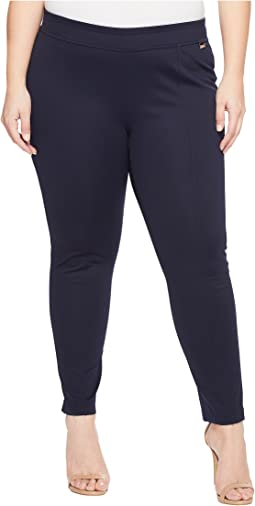 Plus Size Seamed Pull-On Pant