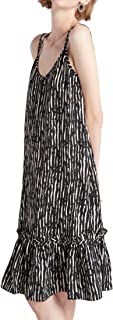 Our Heritage - Women's Strappy A-line Dress with Criss-Cross Back and Ruffle Hem