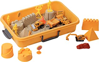 Best Tractor Sand Play Set, Sensory Toys for Kids W/ 2 Lbs of Sand, Construction Signs & Cones, Working Figures, 4 Mold Set and Road Roller, Dump Truck, Excavator & Bulldozer for 3, 4, 5 Year Old Toddlers, Review
