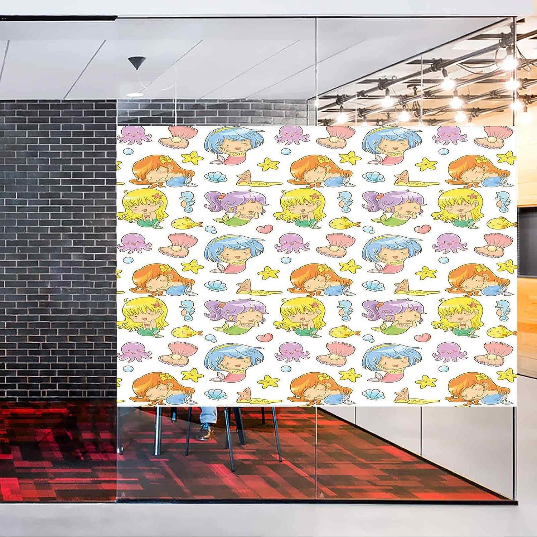 SALENEW Max 56% OFF very popular No-Glue Static Decorative Privacy Window Ado Collection Films of