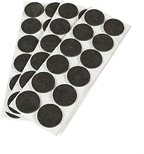 Emuca 2038516 Pack van 36 ronde zelfklevende vilten pads 40mm diameter bruine kleur