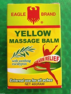 Eagle Brand Yellow Massage Balm with Soothing Eucalyptus Warm Relief 40g