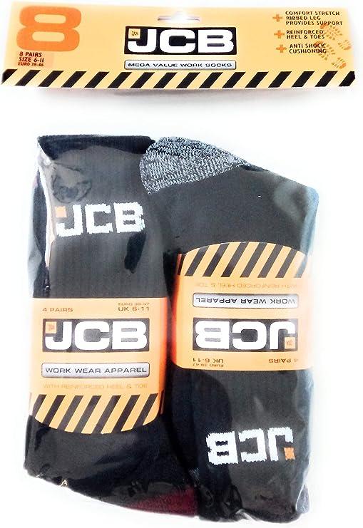 JCB Enfants Chaussettes - UK6-8//EU23-26 3 paires jcbk 000010