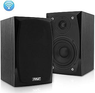 HiFi Desktop Bookshelf Speakers Pair – 300 Watt Powered Bluetooth Compatible Active..