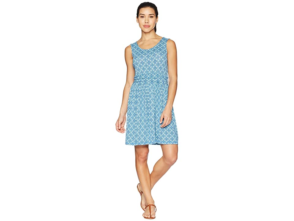 White Sierra Tangier Odor Free Printed Dress (Aqua) Women