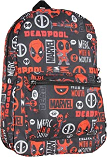 Marvel Deadpool MERC with A Mouth Verbiage All Over Print Laptop Backpack